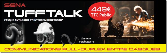 SENA TUFFTALK - casque anti-bruit et intercom Bluetooth
